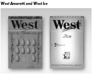 West Amaretti and West Ice Сигареты