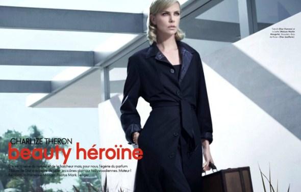 рекламная фотосессия Шарлиз Терон в Elle France