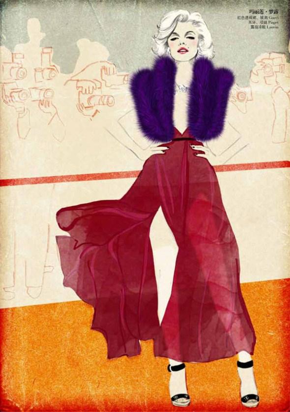Художница Сандра Сай (Sandra Suy) - рекламные принты для журнала ROUGE