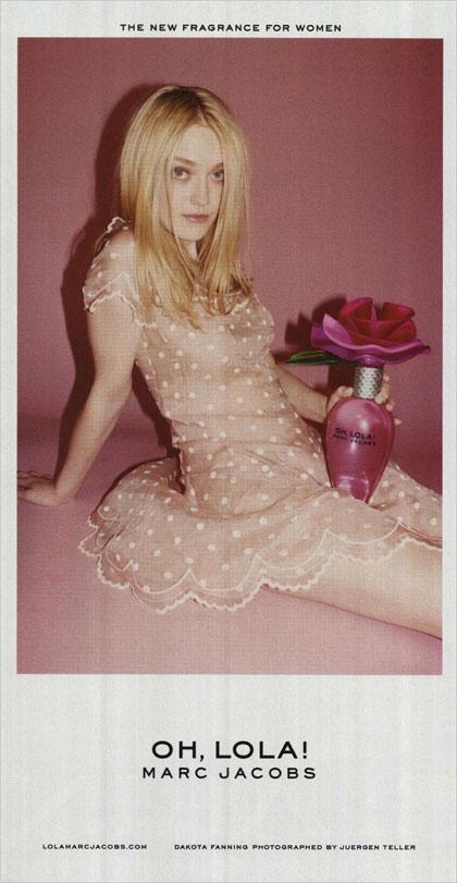 И снова запрещенная реклама - бренд Marc Jacobs - актриса Дакота Фаннинг