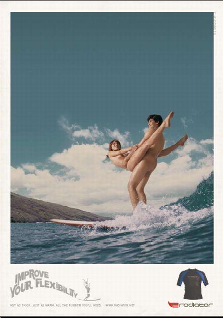 Скандальная реклама гидрокостюмов Radiator - использование сексуальных мотивов