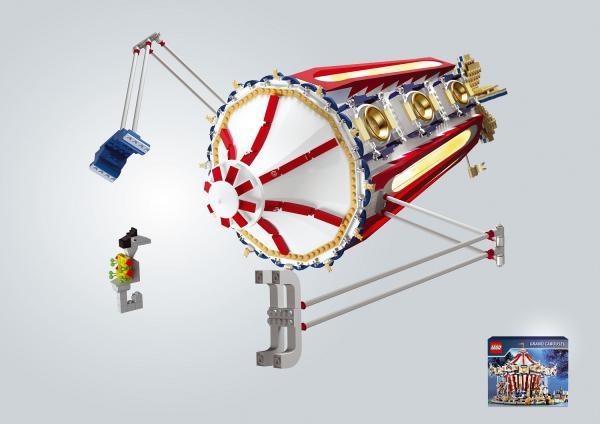 Leo Burnett Moscow - золото в номинации Outdoor за кампанию Lego - Батискаф (Карусель)