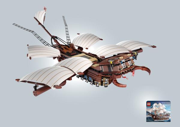 Leo Burnett Moscow - золото в номинации Outdoor за кампанию Lego - Жук (Корабль)