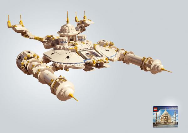 Leo Burnett Moscow - золото в номинации Outdoor за кампанию Lego - Космический корабль (Тадж-Махал)