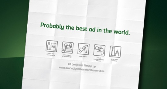 Рекламная кампания для пива Carlsberg от агентства Duval Guillaume
