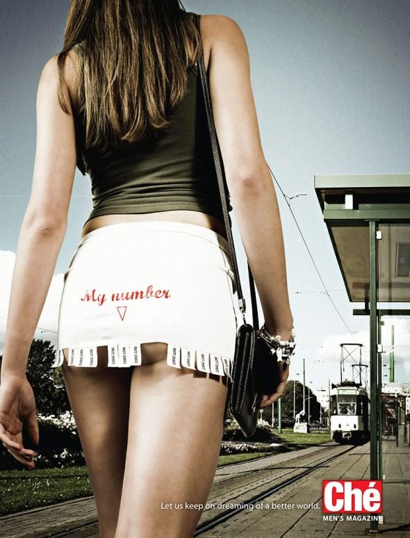 Рекламная кампания для мужского журнала Che от агентства Duval Guillaume