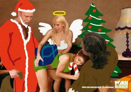Рождественский рекламный плакат porn blocker
