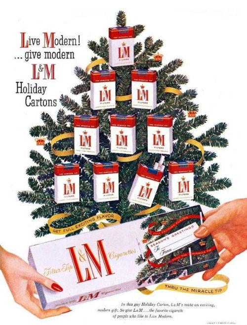 Рождественский рекламный плакат L&M