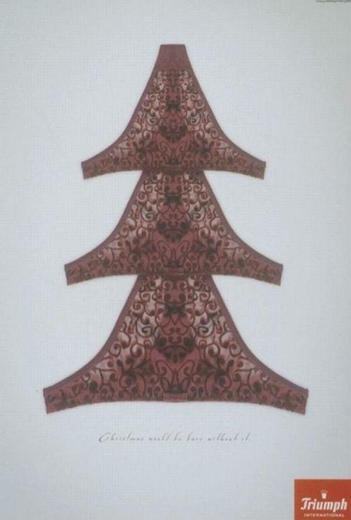 Рождественский рекламный плакат нижнего белья