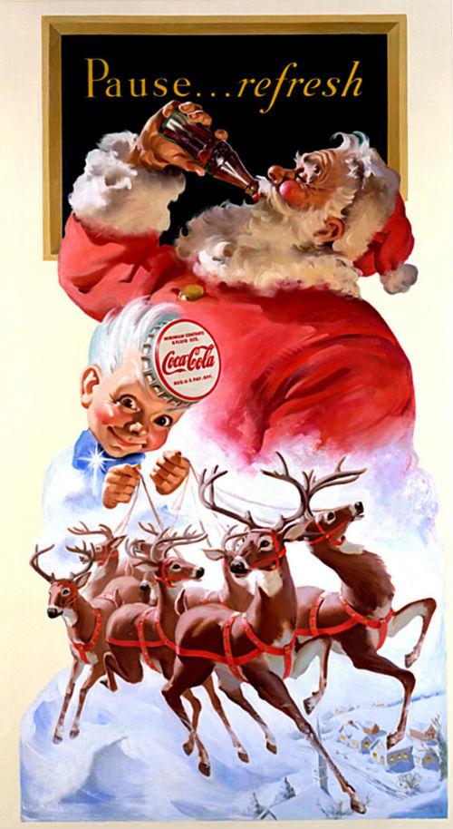 Рождественский рекламный плакат Coca-cola