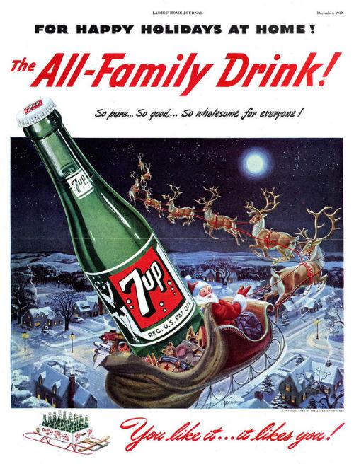 Рождественский рекламный плакат 7up