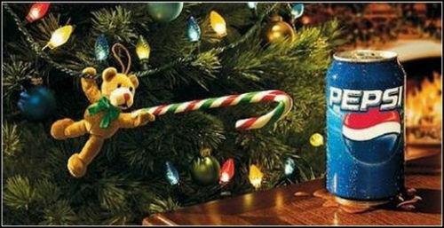 Рождественский рекламный плакат Pepsi
