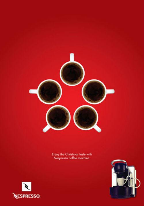 Рождественский рекламный плакат Nespresso