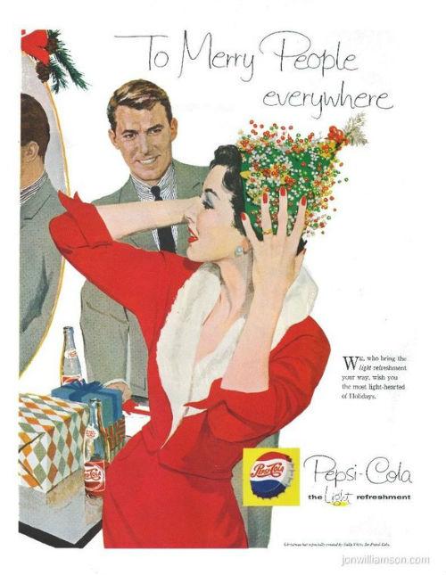 Рождественский рекламный плакат pepsi cola