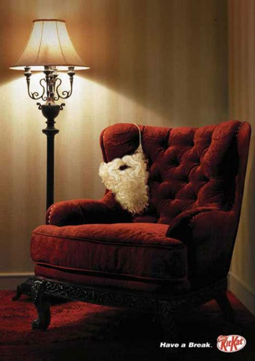Рождественский рекламный плакат KitKat