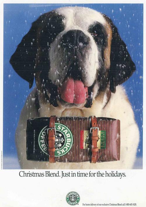 Рождественский рекламный плакат Starbucks