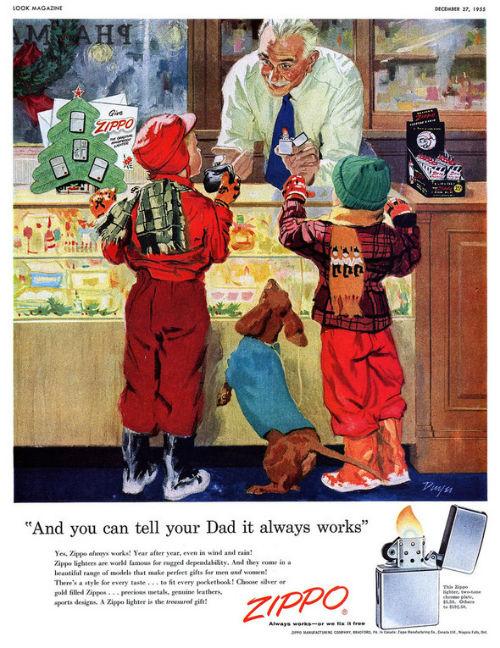 Рождественский рекламный плакат Zippo