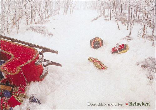 Рождественский соцальный плакат пива Heineken