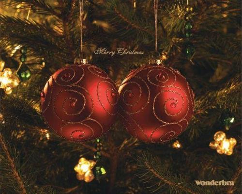 Рождественский рекламный плакат Wonderbra