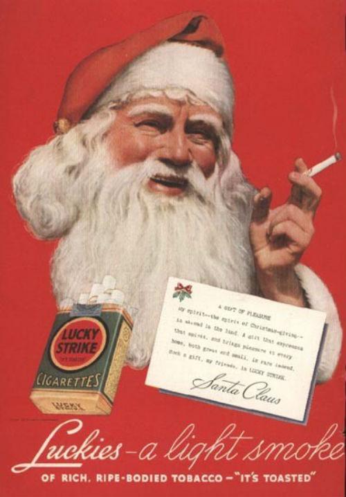 Рождественский рекламный плакат Lucky Strike
