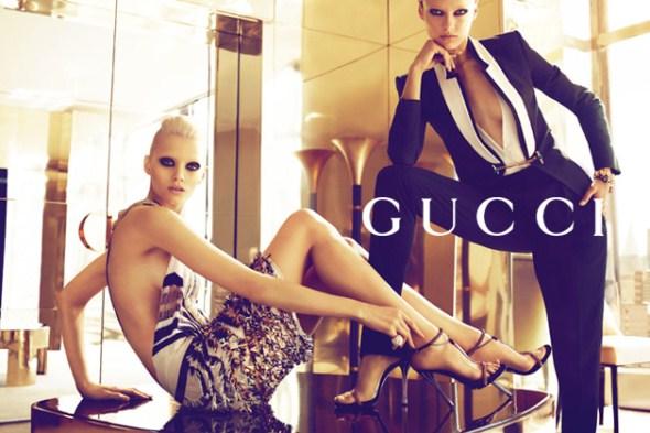 рекламная кампания весенне-летней коллекции Gucci 2012