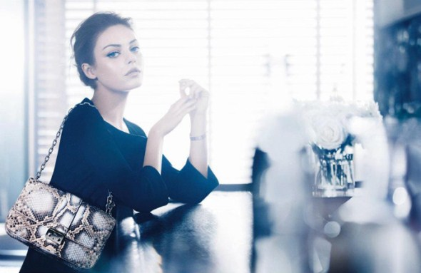 Christian Dior -  Miss Dior Handbags 2012 и свое новое лицо - Милу Кунис (Mila Kunis)