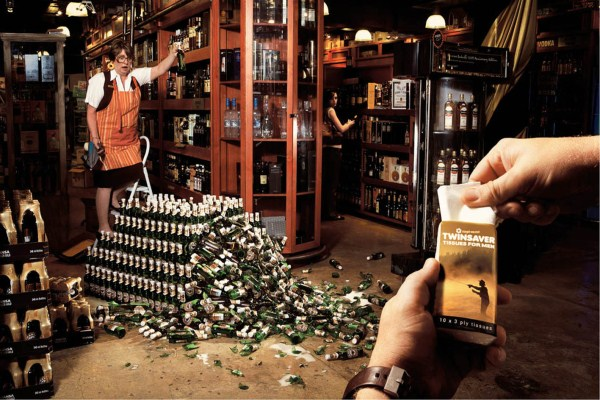 креативная реклама салфеток Twinsaver. Рекламное агентство TBWA Hunt Lascari (Южная Африка)