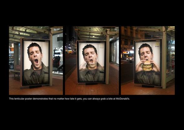 Печатная и наружная реклама McDonald's