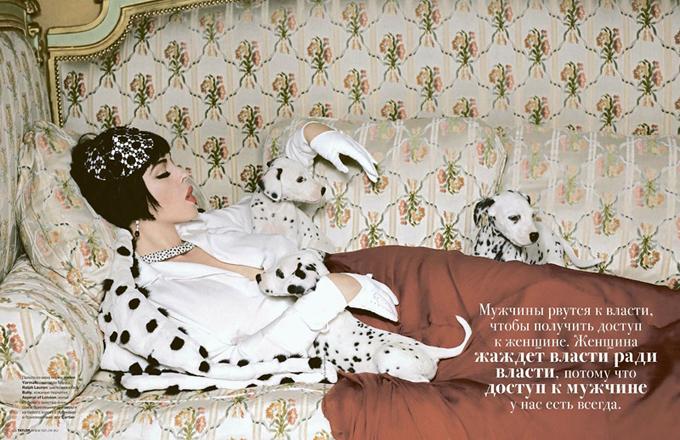 Моника Беллуччи в декабрьском номере Tatler Russia - Рекламная фотосессия