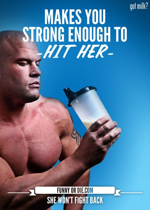 Пародия на рекламу молока от Silverstein & Partners