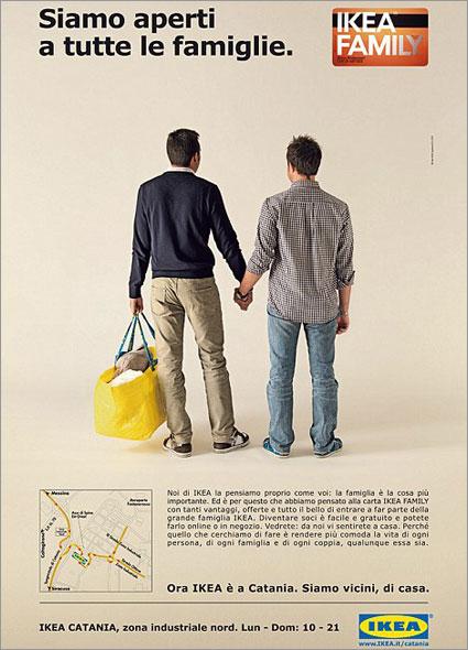 Реклама Ikea с изображением геев