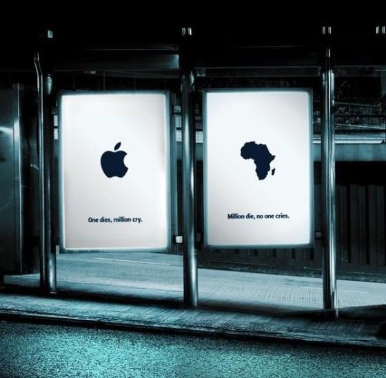"""Социальная реклама «Один умирает плачут миллионы. """"Миллионы умирают – никто не плачет"""""""