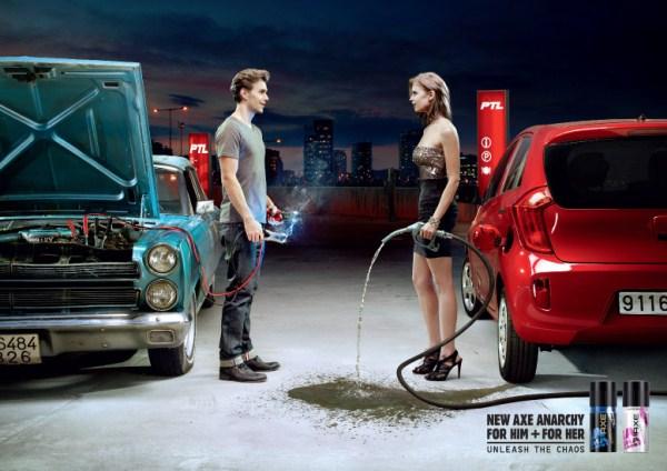 «Освободи хаос» Реклама axe