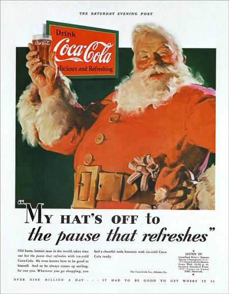 Хаддон Сандблом рекламный плакат Coca-cola