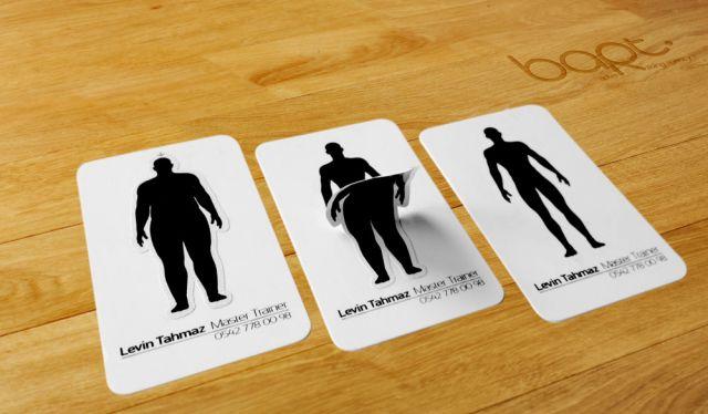 Нестандартные визитки для фитнесс-тренера