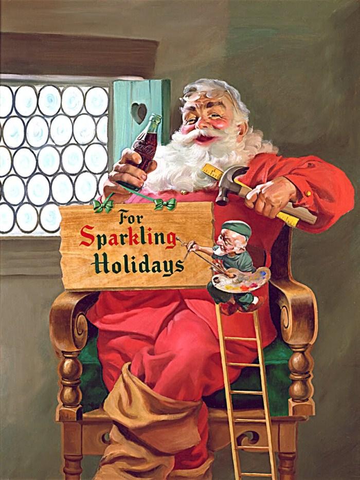 Санта-Клаус и Coca-Cola образа Святого Николаса