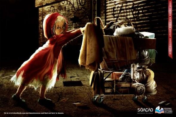 Социальная реклама на тему детских книг - Не выбрасывайте сказки на помойку!