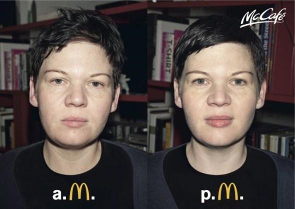 креативных принтов, созданных для продвижения кофе в McDonald's
