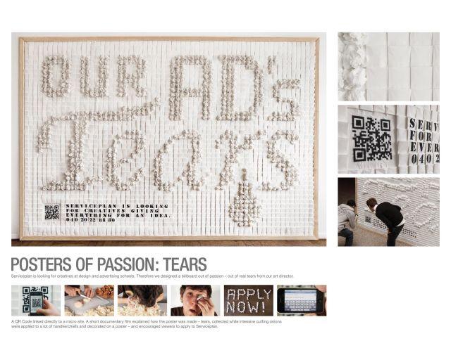 биллборды под названием «Постеры страсти: кровь, пот, слезы» - агентство Serviceplan Гамбург
