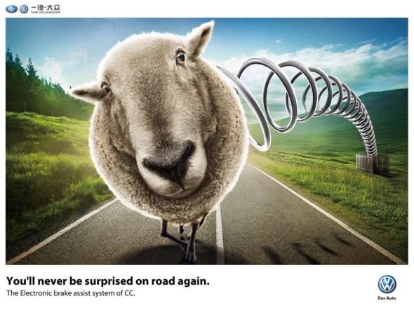 Печатная рекламная кампания Volkswagen.