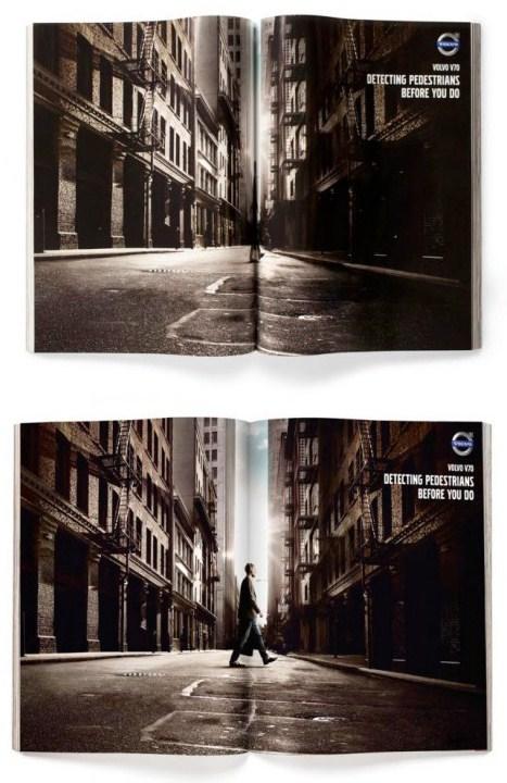 Креативная журнальная реклама Volvo