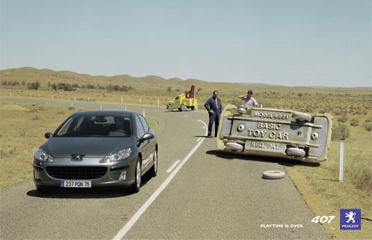 Печатная реклама автомобилей Peugeot 407