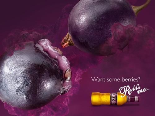 Печатная Реклама фруктового пива Redd's - Redd's me