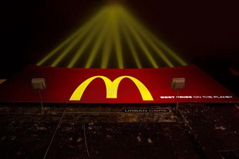 Наружная реклама ресторанной сети McDonalds - агентство Leo Burnett