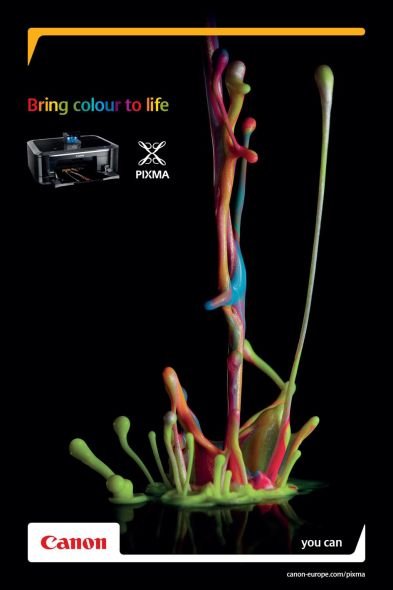 Принты Canon «Bring colour to life»