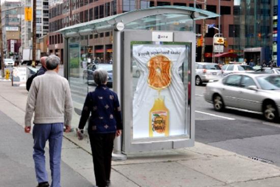 Наружная реклама соков Simply Orange