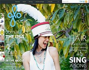 новый женский портал Glo от MSN
