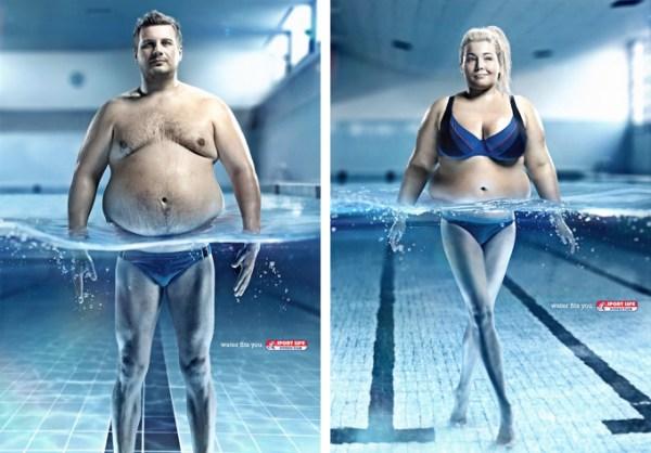 Реклама фитнесс-центра Sport Life