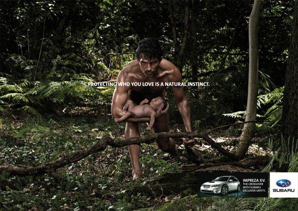 """Печатная кампания для Subaru Impreza """"Men"""""""