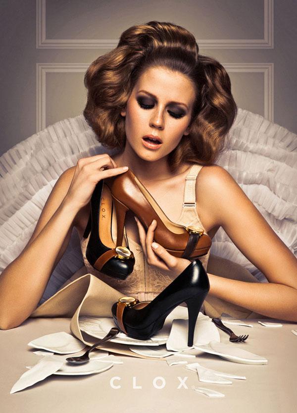 Сладкие ассоциации в рекламе обуви